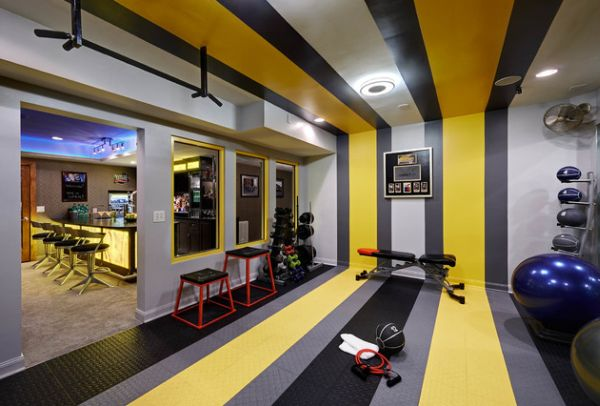 Home Gym Design: Basement Designs And Decor That POP
