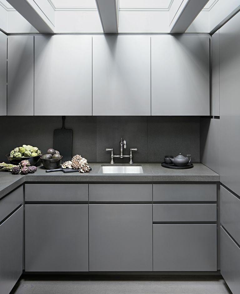 contemporary kitchen cabinets Custom-Built Gray Cabinets