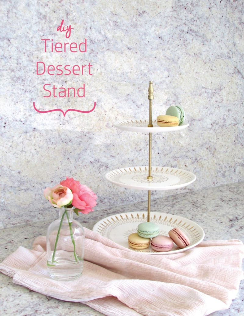 DIY Tiered Dessert Stand from Porcelain Plates