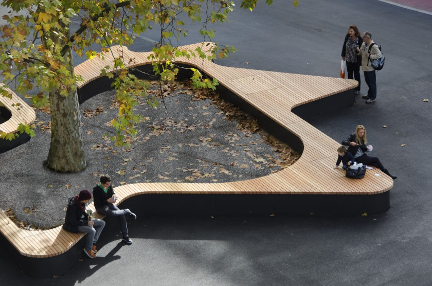Urban Benches tree bench designs that literary embrace nature
