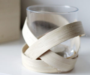 DIY Wooden Strip Candle Votive