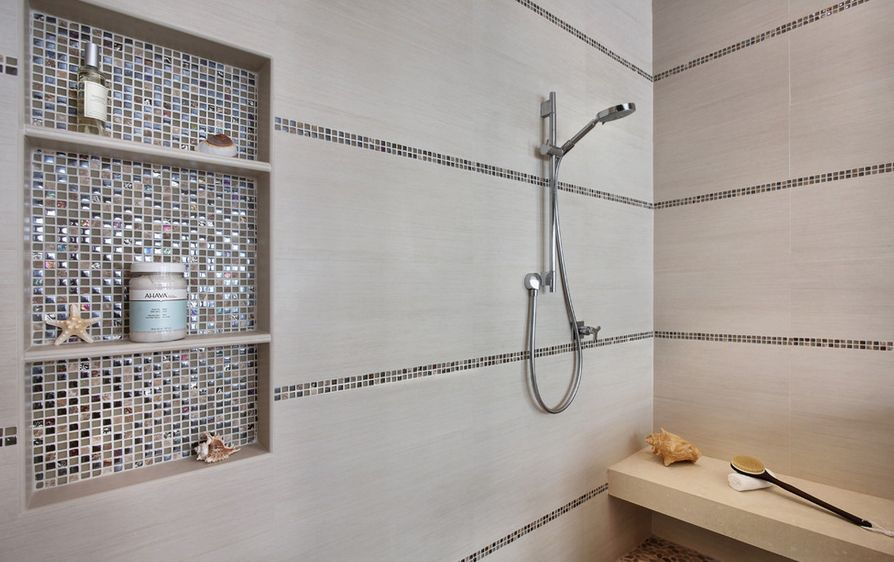 how to make shower niches work for you in the bathroom - In The Bathroom