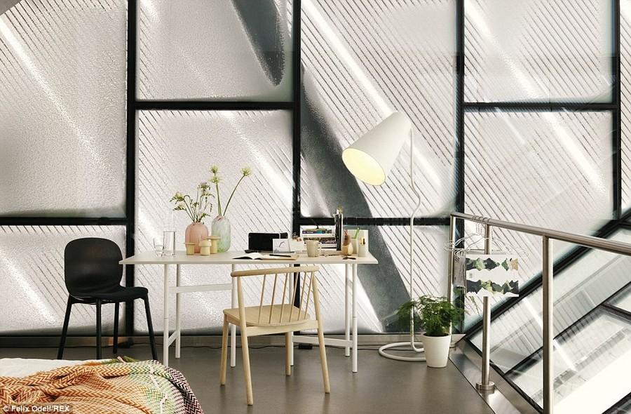 Ski-jump-penthouse-bedroom-table