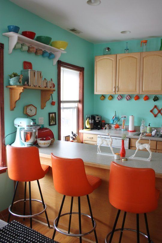 Orange And Green Painted Kitchens colors that make orange and compliment its tones