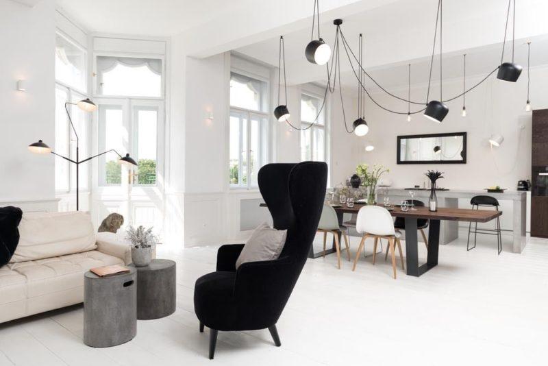 Apartment Harmonizes With Nature Through Art Nouveau Elements