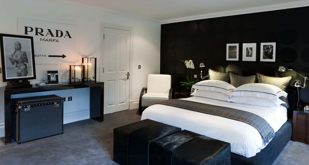 black and white bedroom images
