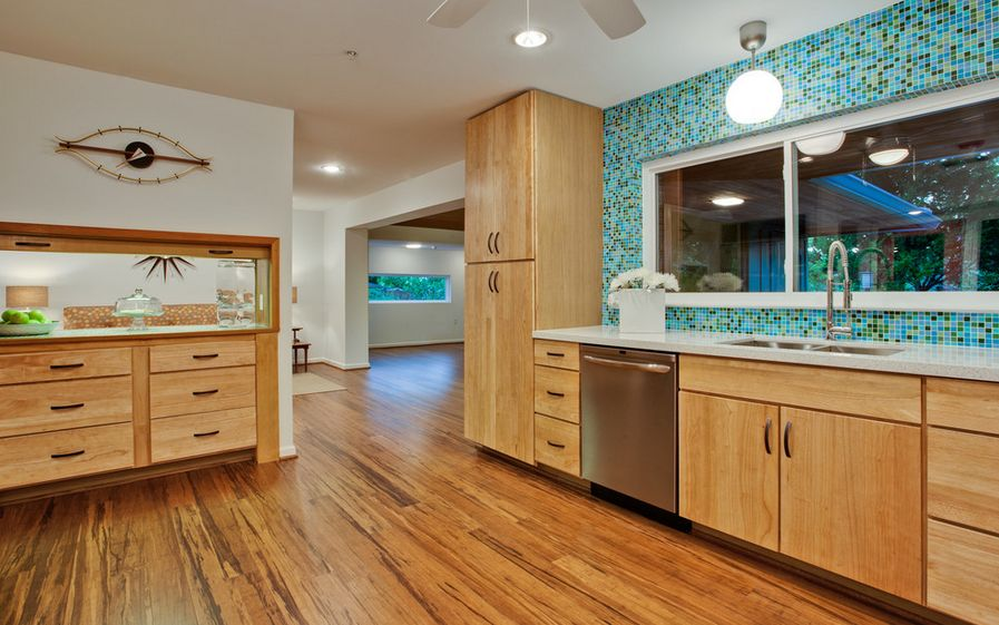 A closer look at bamboo flooring the pros cons for Bamboo wood kitchen cabinets