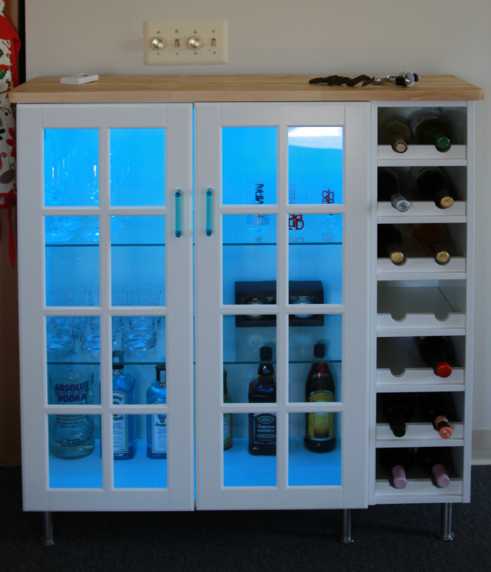 Akurum Wall Cabinet Perfekt Wine Shelf And Lidi Glass Doors
