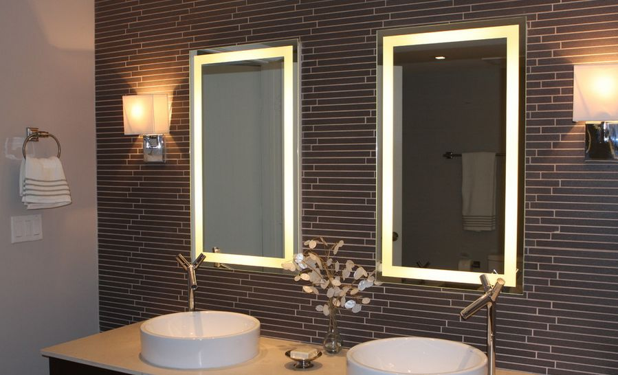 How to pick a modern bathroom mirror with lights aloadofball Gallery