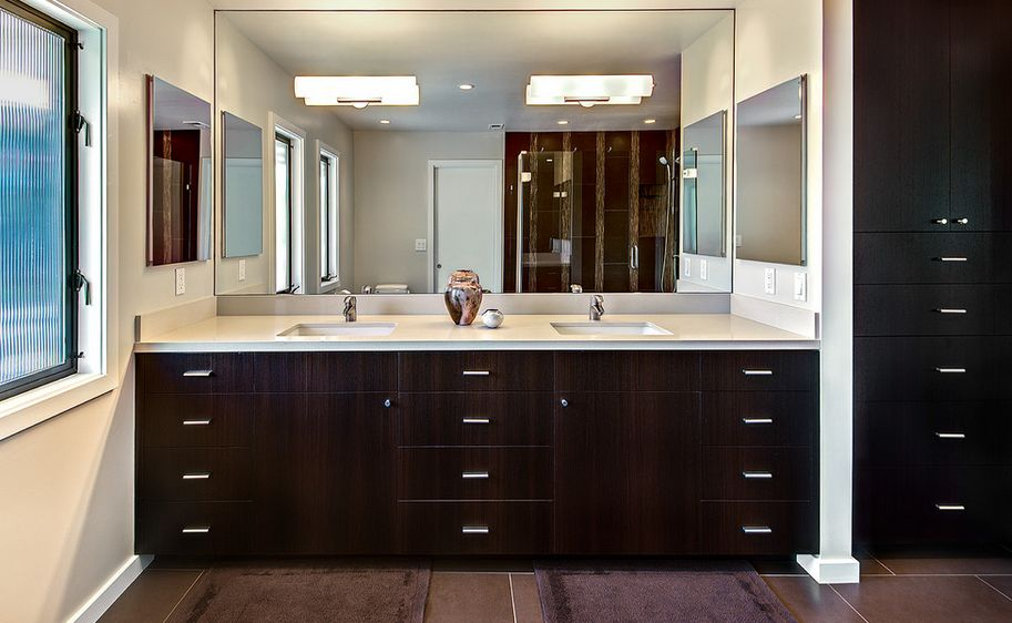 Bathroom Mirrors how to pick a modern bathroom mirror with lights