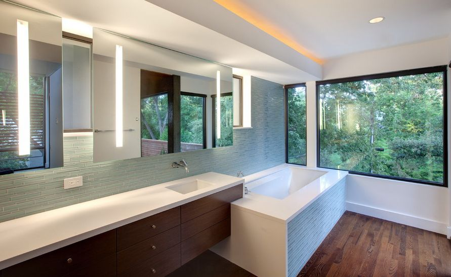 Bathroom Mirrors Over Windows how to pick a modern bathroom mirror with lights