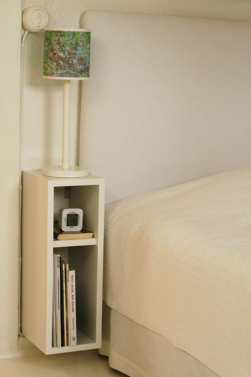 Amazing Small Bedside Table Ideas Part - 1: Small Nightstand Designs That Fit In Tiny Bedrooms