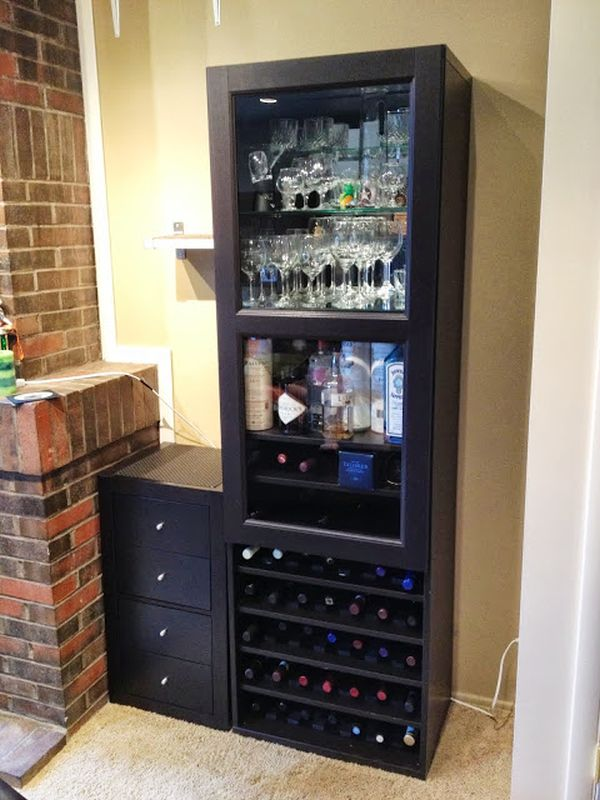 Besta frame + Inreda shelves. & How To Combine Ikea Items To Build Your Own Wine Rack