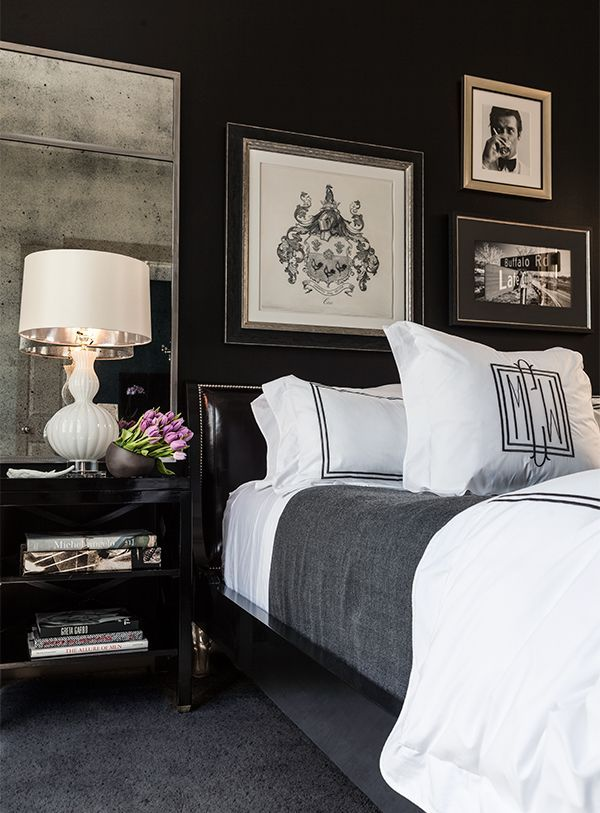 Bedroom Wall Decor Black And White : Timeless black and white bedrooms that know how to