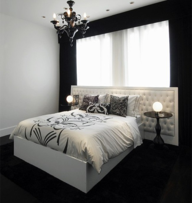 35 timeless black and white bedrooms that know how to for Black bed bedroom ideas