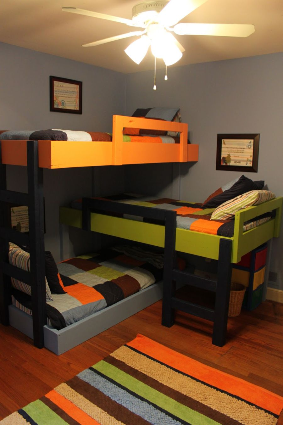 Design Bunk Bedroom Ideas saving space and staying stylish with triple bunk beds home decorating trends homedit