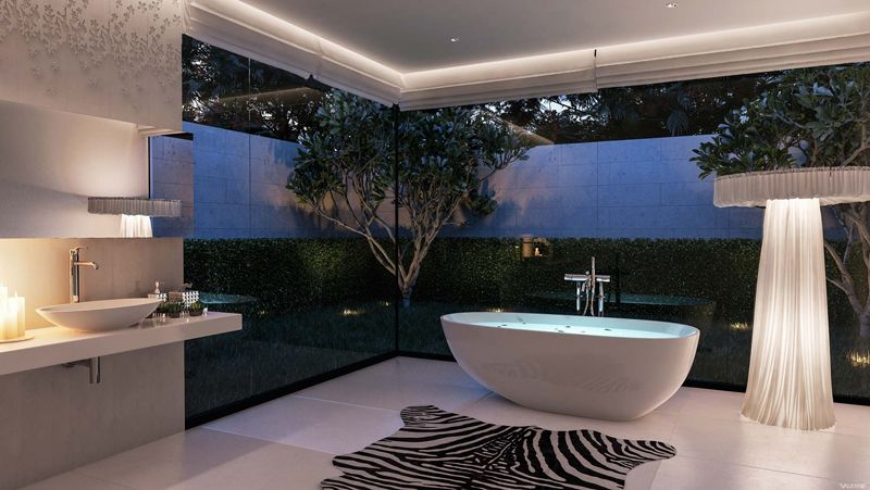 The defining design elements of luxury bathrooms contrasting textures aloadofball Gallery
