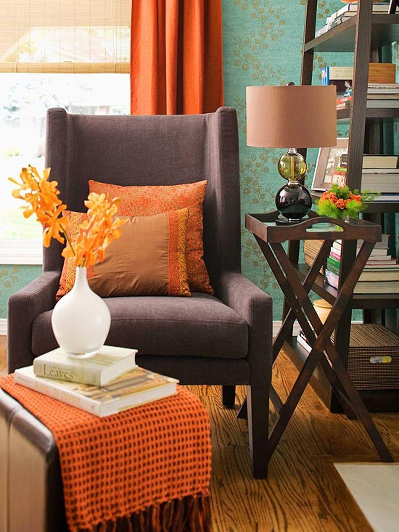 orange accessories for living room. 1  Traditional Appeal Orange Home Accessories For Every Room of the House