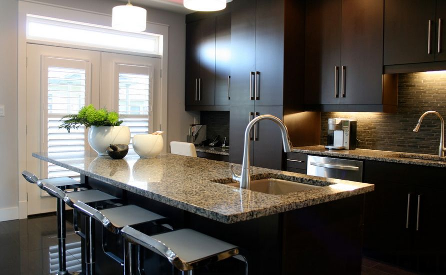 Contemporary kitchen cabinets for a posh and sleek finish for Sleek modern kitchen ideas