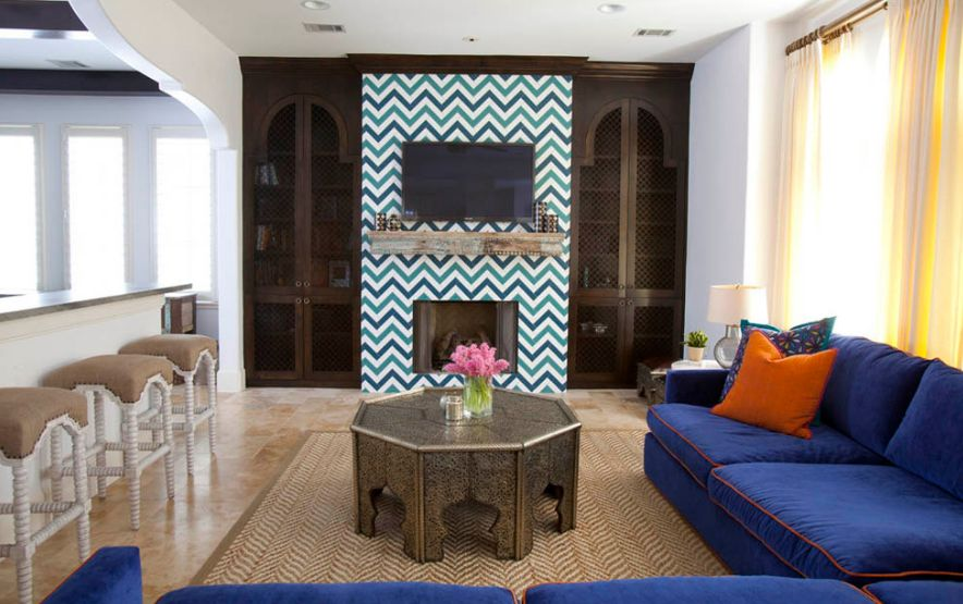 How To Wallpaper A Space Using Chevron Pattern