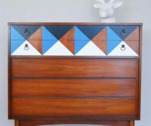 Mid-Century Modern Dressers Get Custom DIY Makeovers
