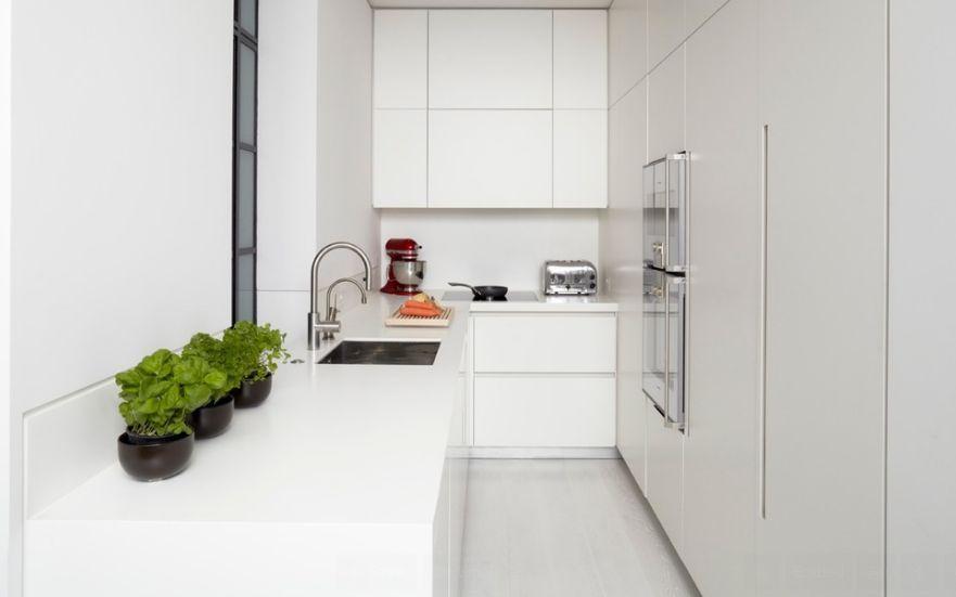 glosy white kitchen future design