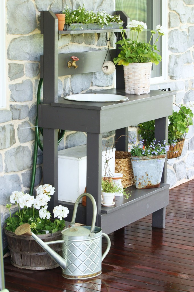Potting Tables For Spring Sprucing
