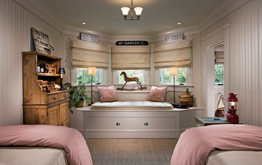 Bay Window Bedroom how to solve the curtain problem when you have bay windows