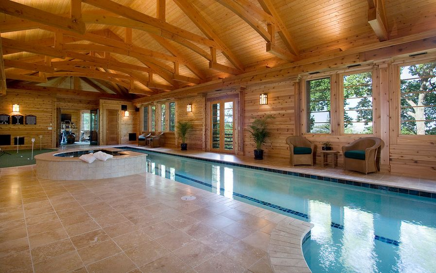 The benefits of lap pools and their distinctive designs for Mansion plans with indoor pool