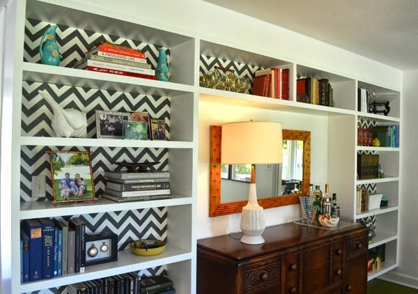 chevron living room. Small updates  How To Wallpaper A Space Using Chevron Pattern