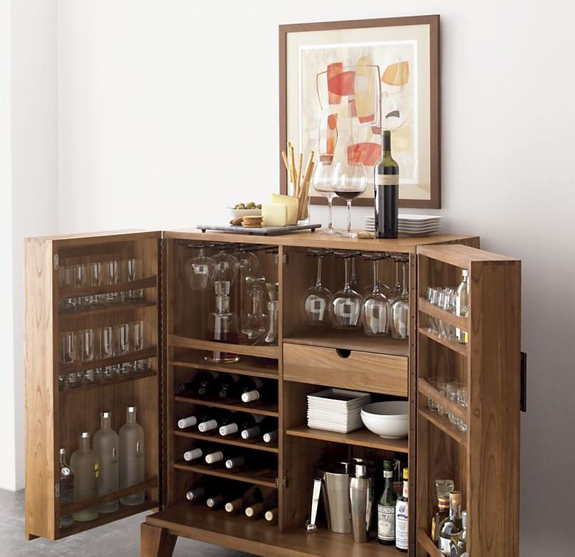 Mini bar furniture for stylish entertainment areas for Small bar furniture for apartment