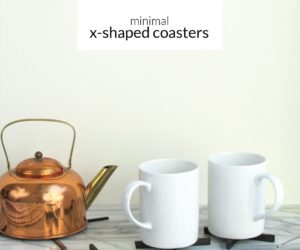 DIY Modern X-Shaped Coaster Set