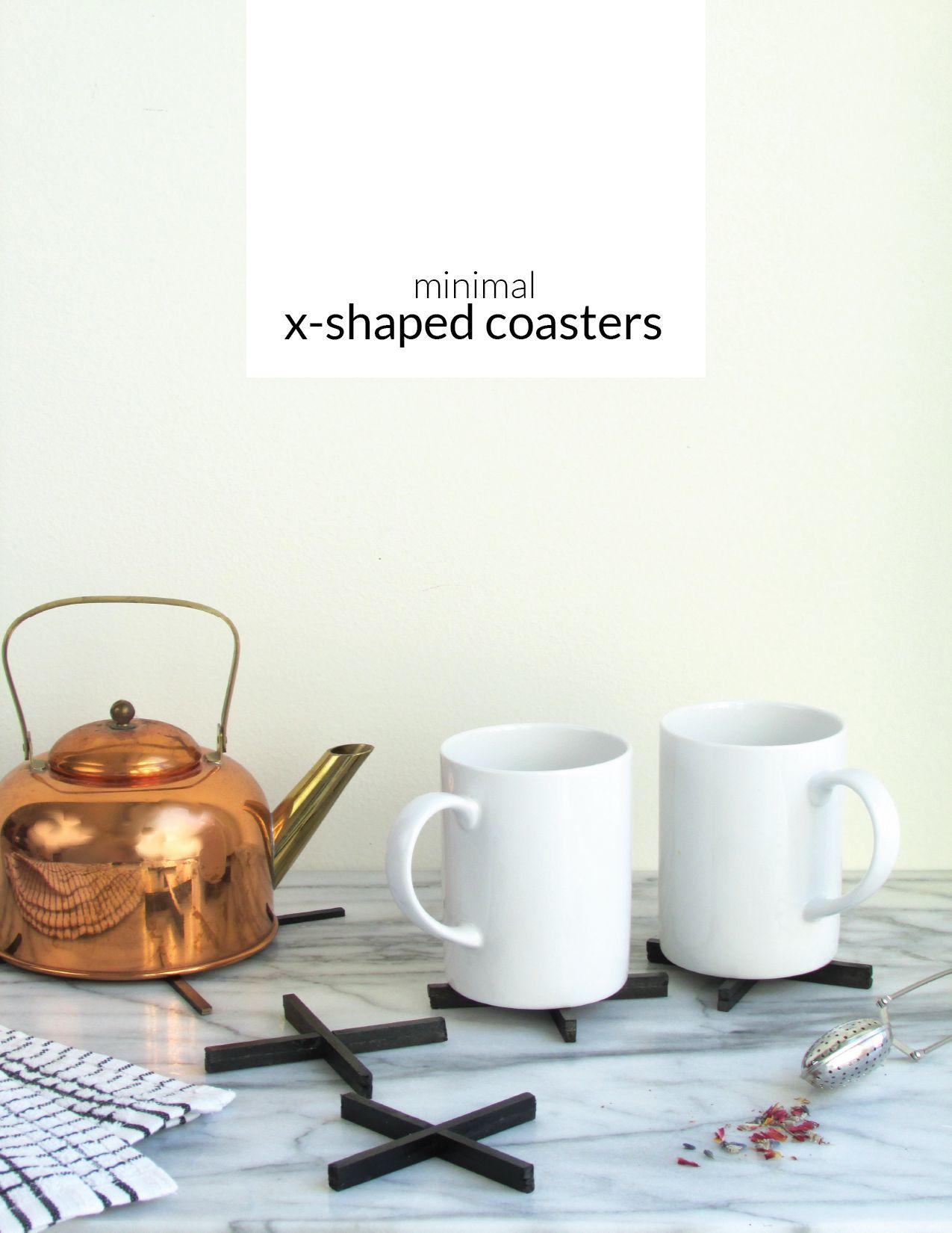 Minimal X Shaped Coaster Set