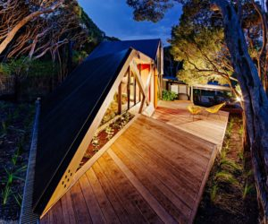 Holiday Cabin Gets A Contrasting Extension Yet Blends In