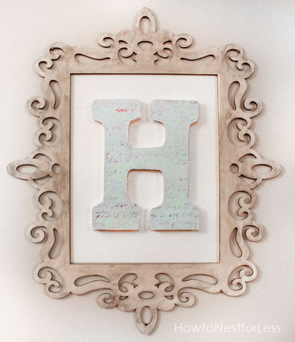 Charmant 2. Framed Letters.