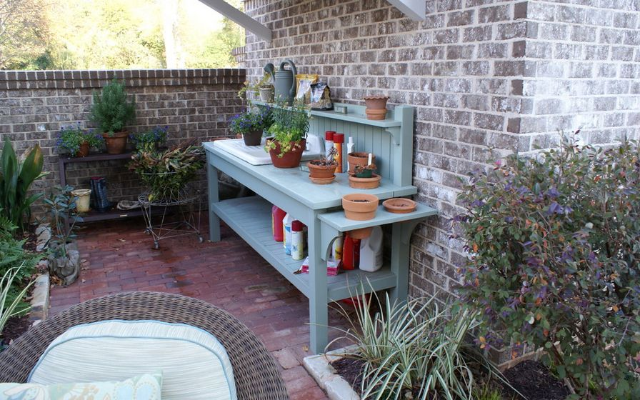 Pretty Potting Tables For Spring Sprucing Your Home