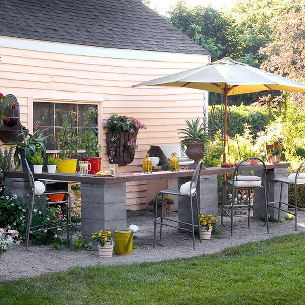 How To Build An Outdoor Kitchen Out Of Cinder Blocks