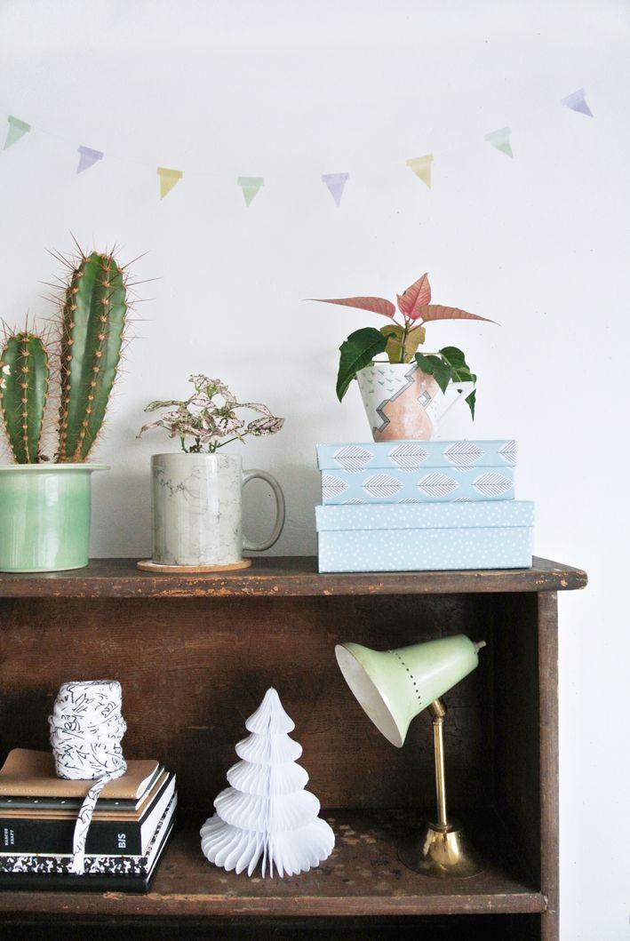 pastel bookcase bits