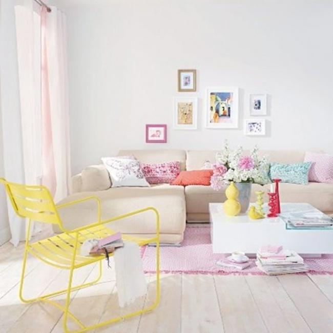 pastel curtains