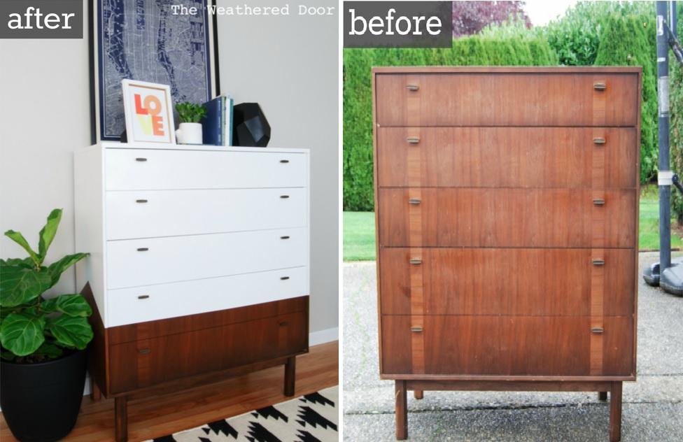 Mid Century Modern Dressers Get Custom DIY Makeovers