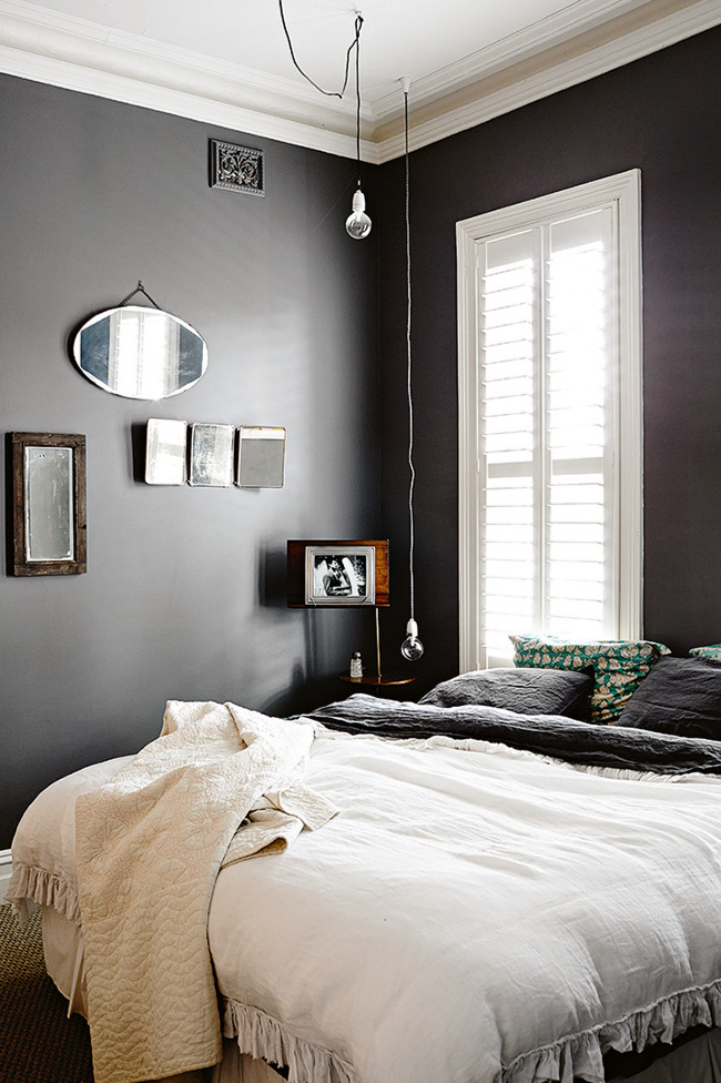 Black Wall Paint 35 timeless black and white bedrooms that know how to stand out