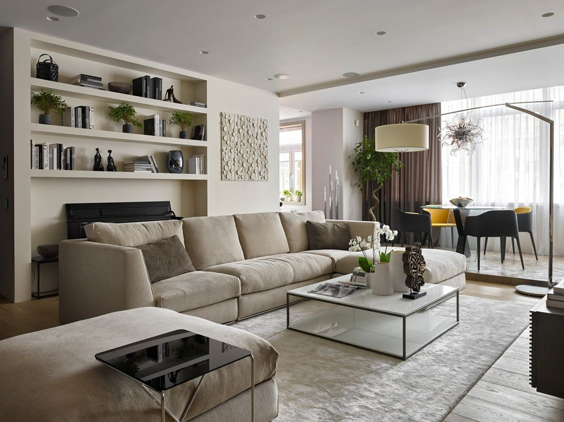 Single Family Home Living Room Sectional Ideas