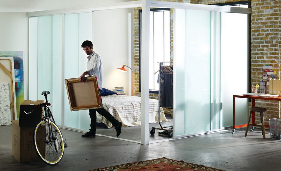 Genial Enjoying Flexibility With Sliding Room Dividers