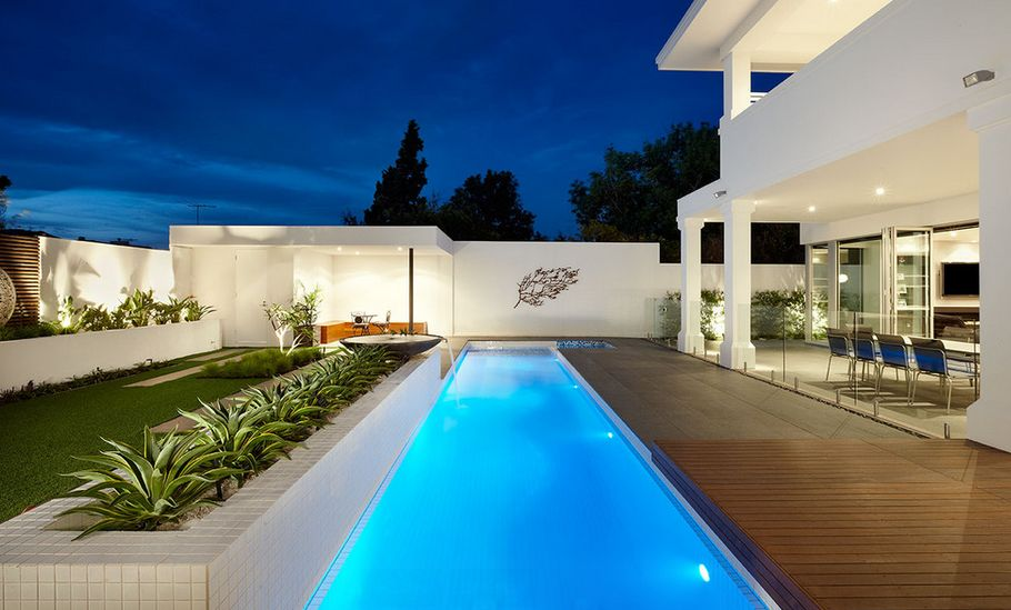 The benefits of lap pools and their distinctive designs for Pool designs under 30000