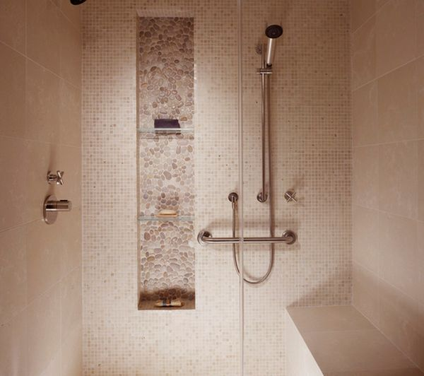 How to make shower niches work for you in the bathroom for Accessoire douche italienne