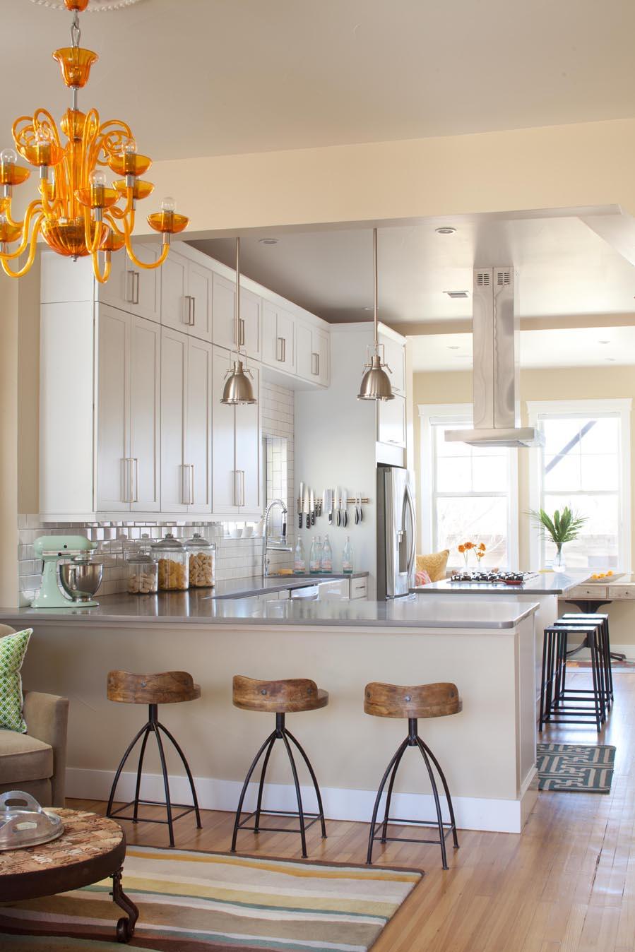 white and crisp kitchen