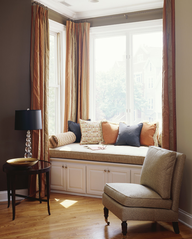 How to solve the curtain problem when you have bay windows - Sitting room curtain decoration ...