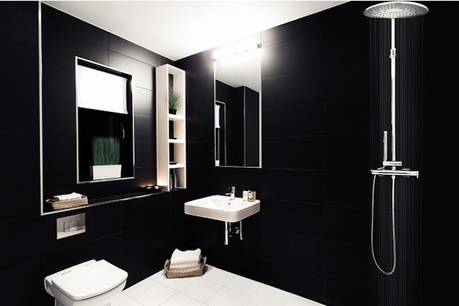 Add Depth With Black Tile