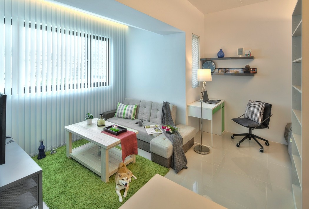 Apartment Office tiny taipei flat full of clever design strategies