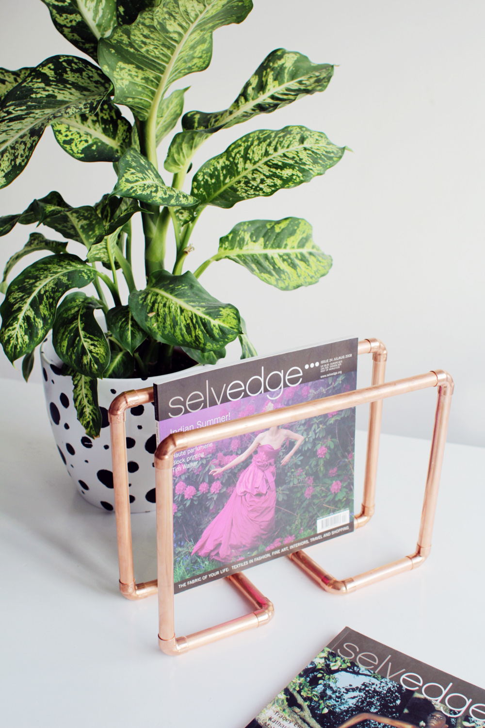 Copper Magazine Holder